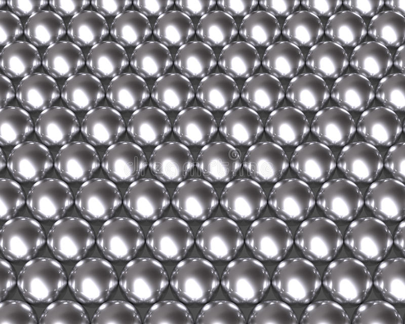 银色球样式反射性纹理 皇族释放例证