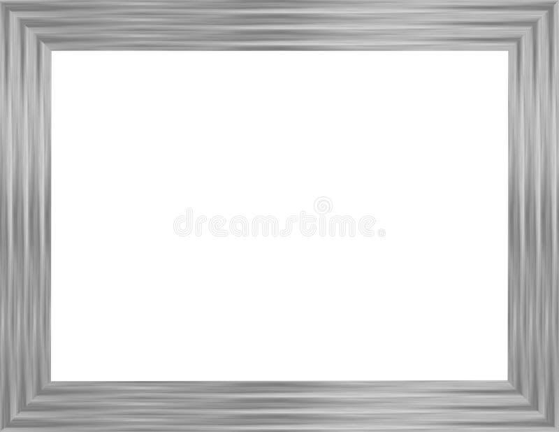 银色画框1 库存例证