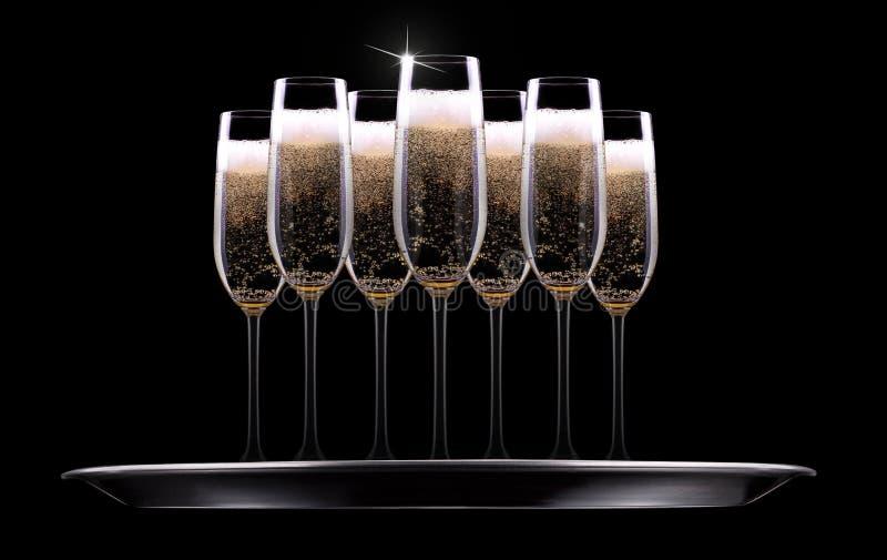 Download 银色盘子用香槟 库存照片. 图片 包括有 玻璃, 金黄, 酒精, congrats, 食物, 新鲜, 前夕 - 35721820