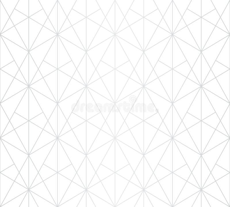银色线样式 传染媒介几何线性无缝的纹理 豪华设计 皇族释放例证