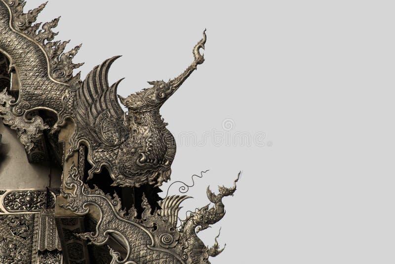 银色艺术雕塑在泰国 库存图片