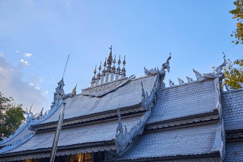 银色菩萨大厦在泰国 免版税库存图片