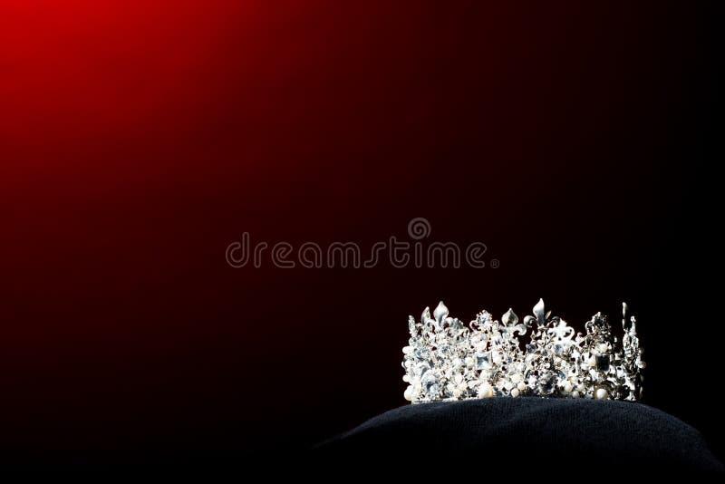 银色金刚石冠Pageant小姐选美 库存照片