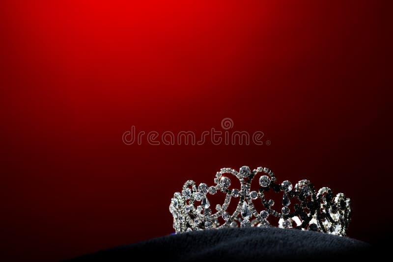 银色金刚石冠Pageant小姐选美 图库摄影