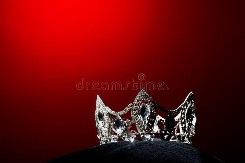 银色金刚石冠Pageant小姐选美 库存图片