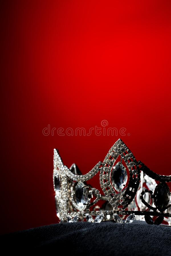 银色金刚石冠Pageant小姐选美 免版税库存照片
