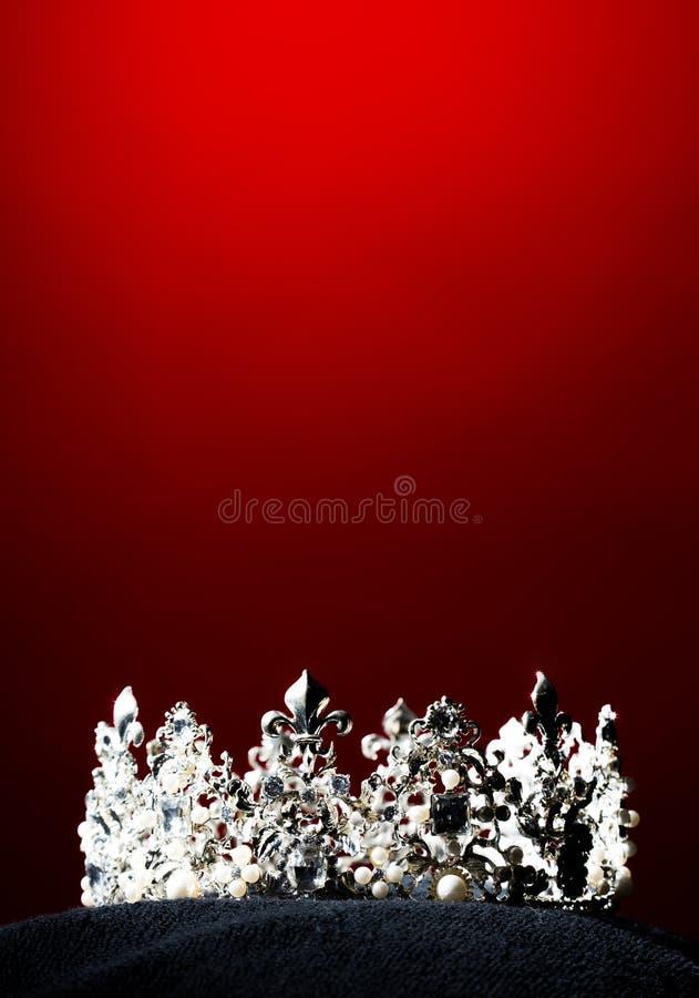 银色金刚石冠Pageant小姐选美 免版税图库摄影