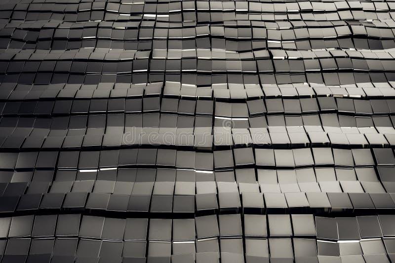 银色金属正方形 库存例证