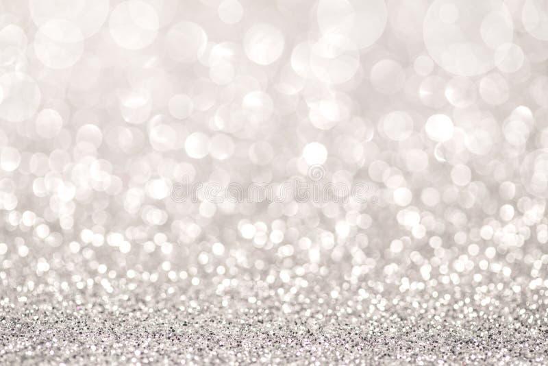 银色闪烁光 向量例证