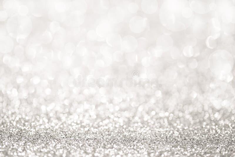 银色闪烁光 免版税库存照片