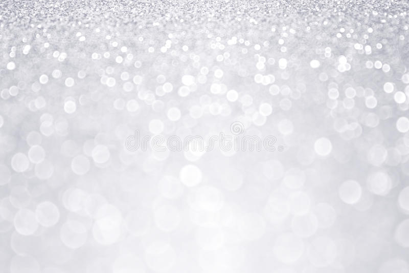 银色闪烁冬天圣诞节背景 图库摄影