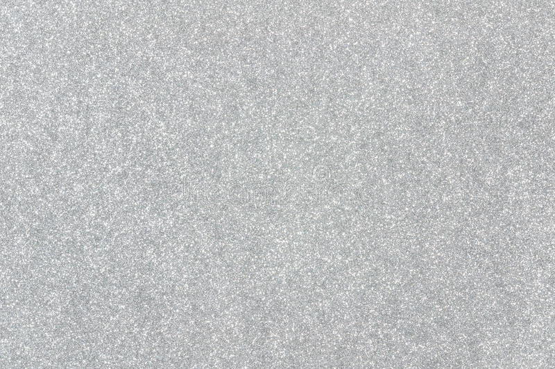 银色闪烁纹理背景 免版税库存图片