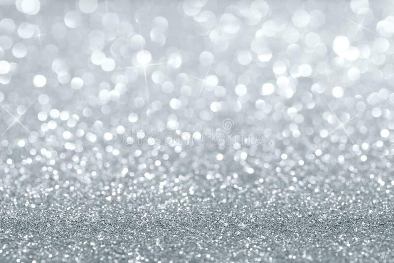 银色闪烁背景 库存照片