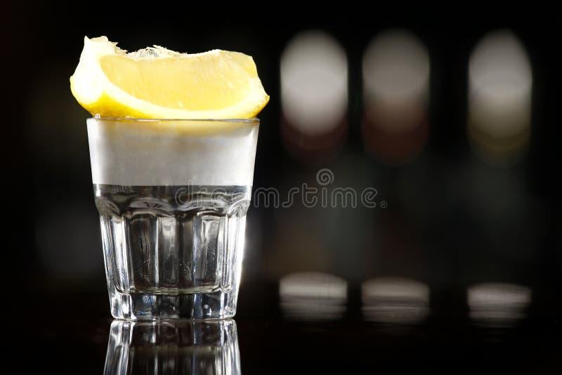 银色龙舌兰酒 库存图片
