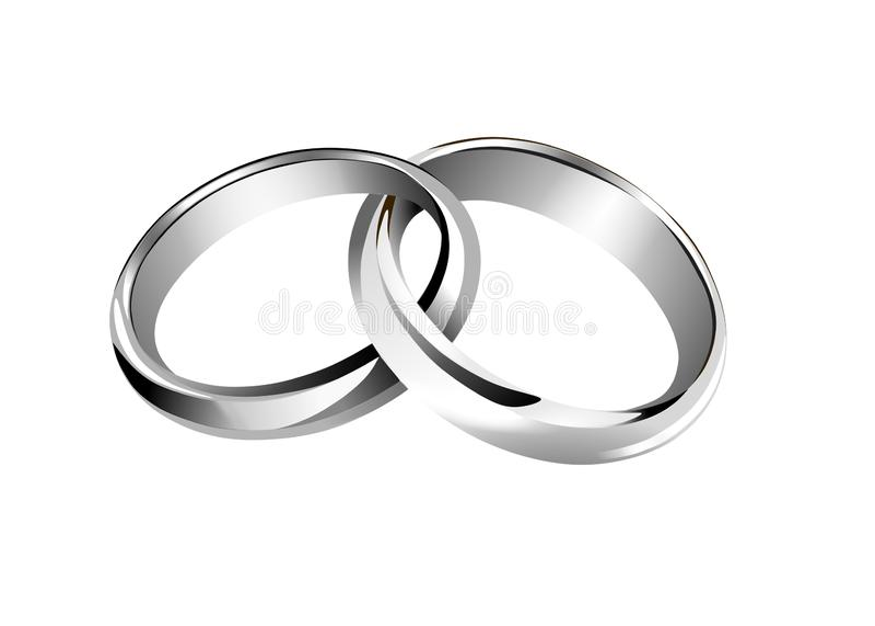 银色interwined结婚戒指传染媒介 向量例证