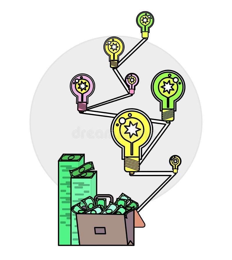 银行、金钱赢利和投资 库存例证