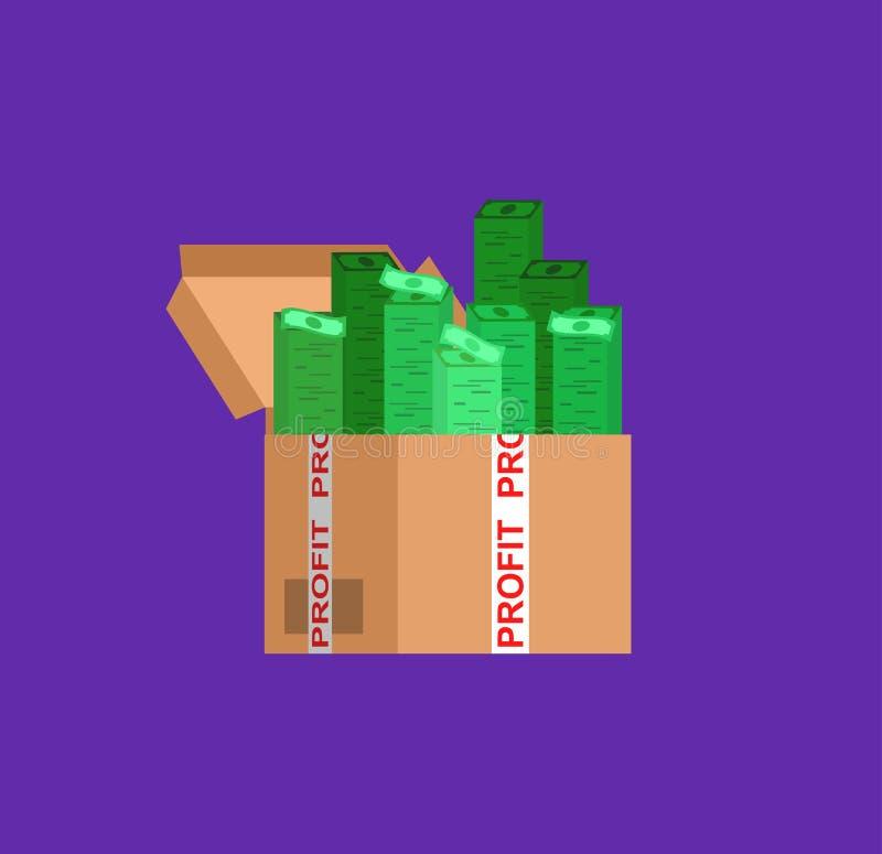 银行、金钱赢利和投资 皇族释放例证