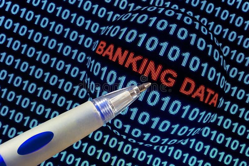 银行业务数据象征主义 免版税库存照片