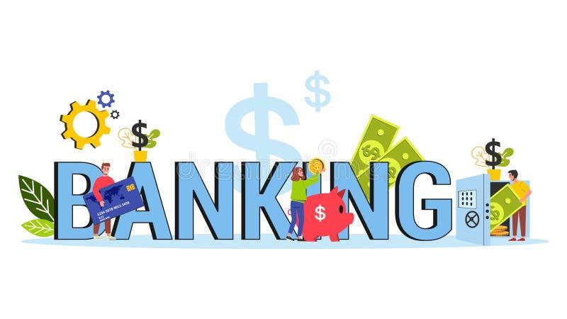 银行业务概念 财政部门和机关 ?? 向量例证