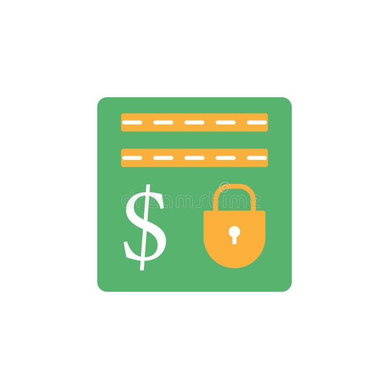 银行业务,保管箱,安全象 网流动概念和网应用程序的金钱和银行业务象的元素 详述的银行业务,保险柜 皇族释放例证
