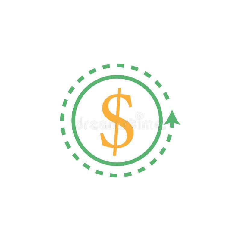 银行业务,金钱,硬币象 网流动概念和网应用程序的金钱和银行业务象的元素 详述的银行业务,金钱,硬币 向量例证