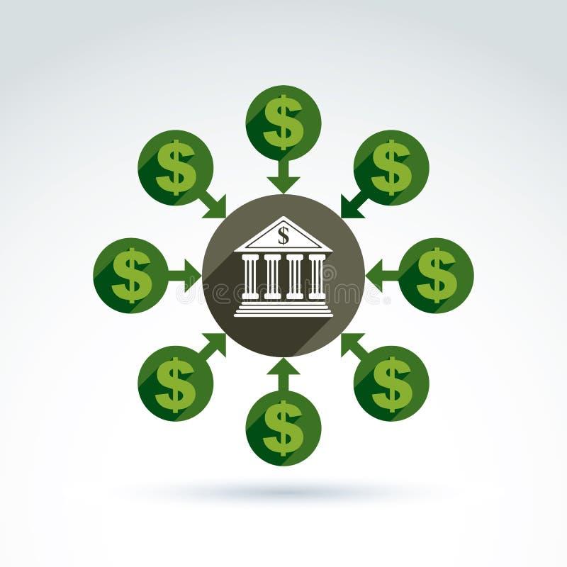 银行信贷和储蓄金钱题材象,传染媒介 库存例证