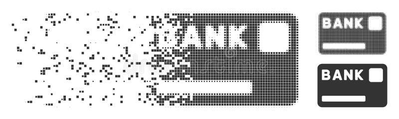 银行卡被分解的映象点象 库存例证