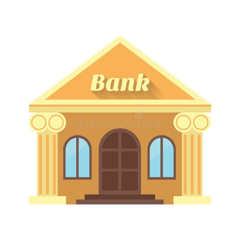 银行和硬币的例证 做的象  库存例证