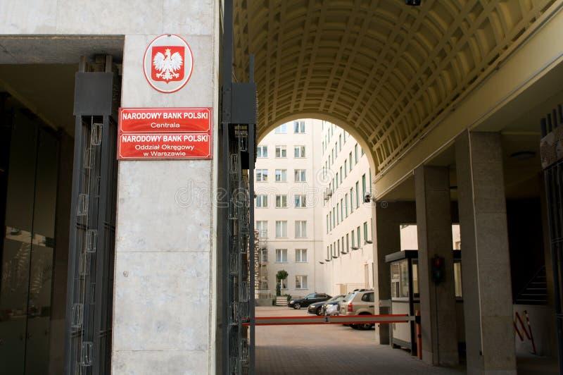 银行国民波兰 库存图片