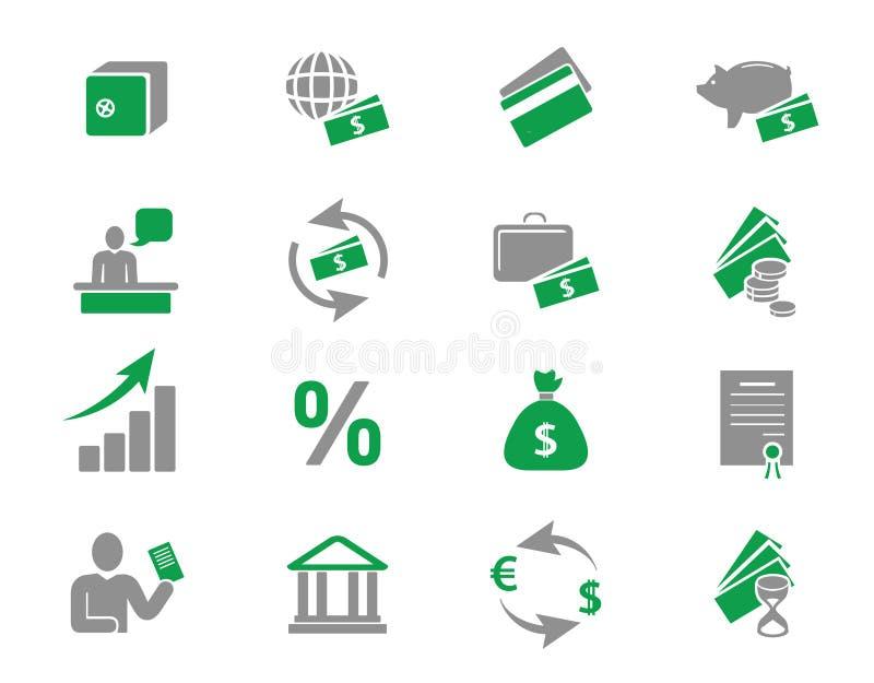 银行图标货币 库存例证