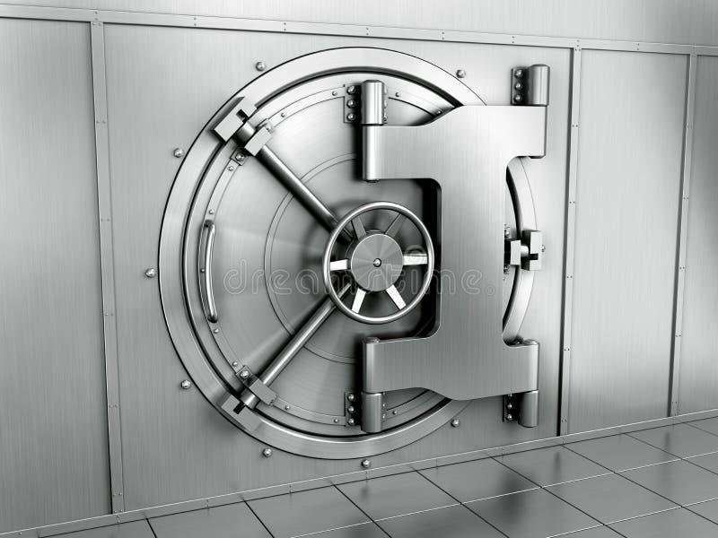 银行地下室 库存例证
