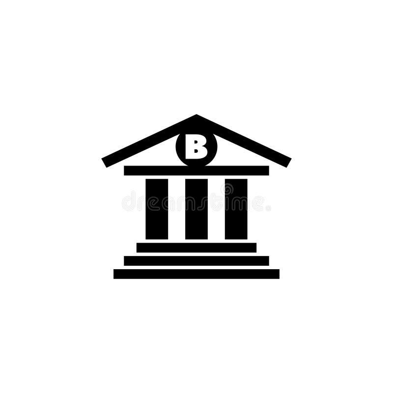银行大楼平的传染媒介象 皇族释放例证