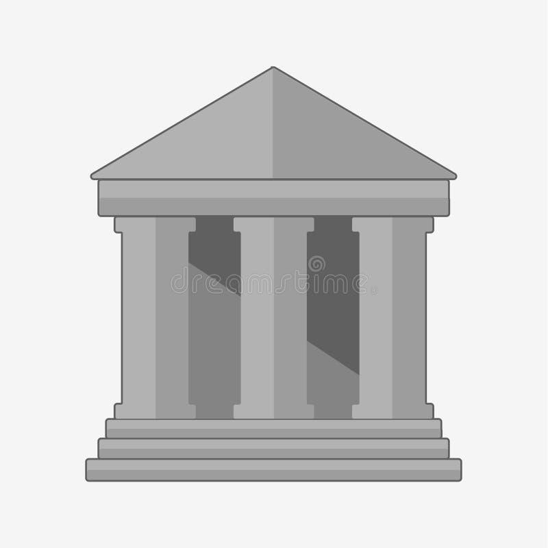 银行大楼平的象  库存例证