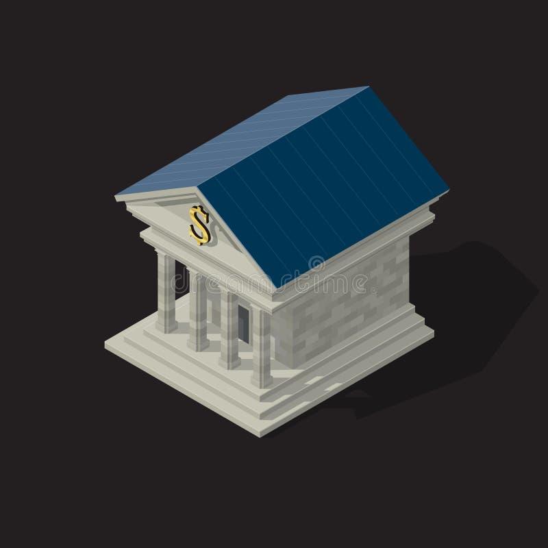 银行大楼的传染媒介例证 向量例证