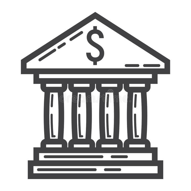 银行大楼线象、事务和财务 皇族释放例证