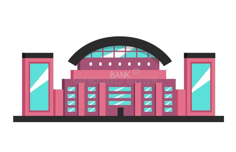 银行大楼 平的传染媒介例证 构成主义样式 向量例证