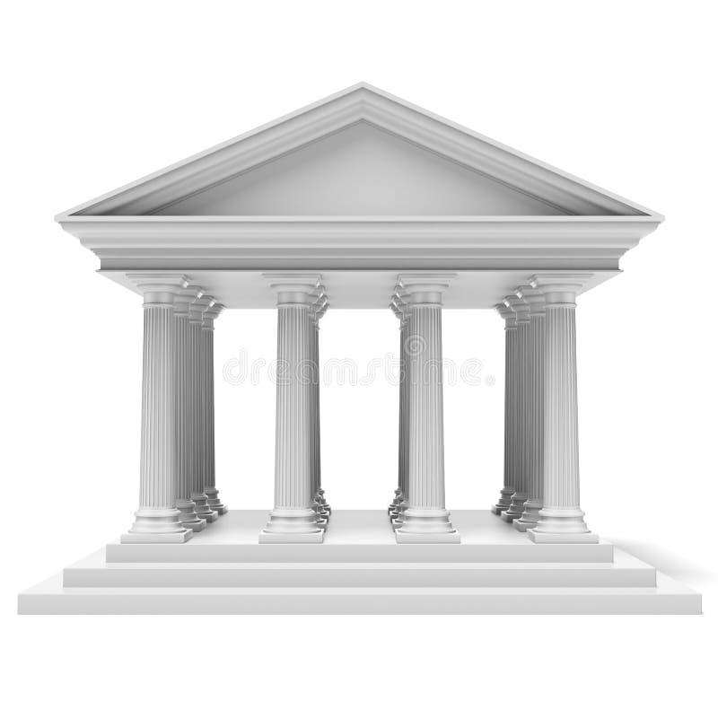 银行大楼 向量例证