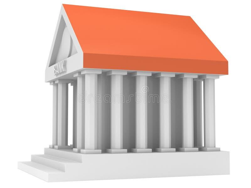 银行大楼3d象 皇族释放例证