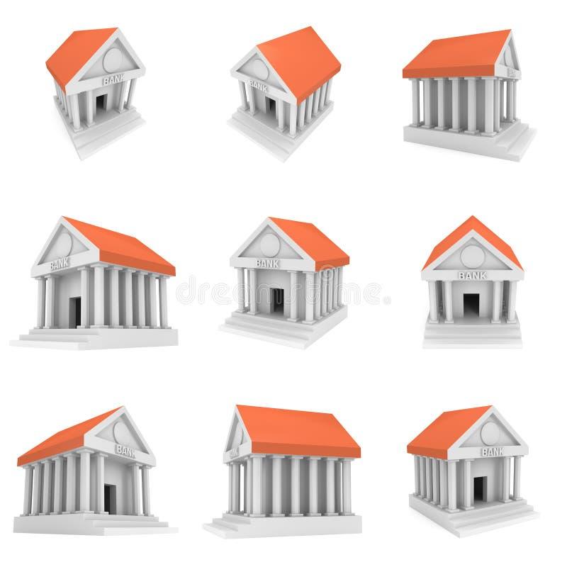 银行大楼3d象 向量例证