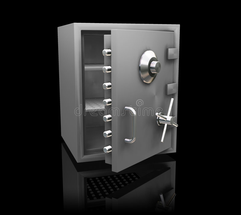 银行安全 向量例证