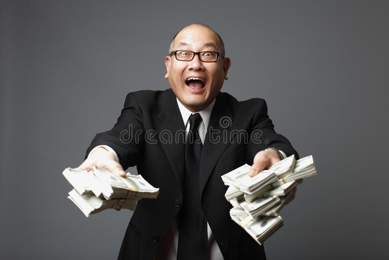 银行家现金实施 库存照片