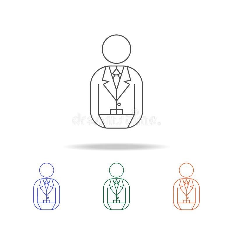 银行家象 银行业务的元素在多色的象的 优质质量图形设计象 网站的简单的象,网络设计 皇族释放例证