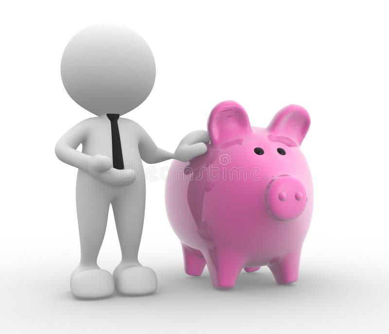 银行家 向量例证