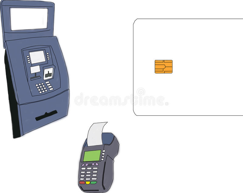 银行工具 免版税库存照片