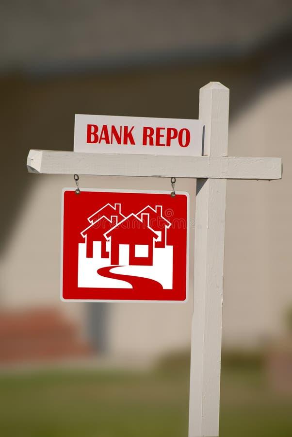 银行庄园实际repo 免版税库存照片