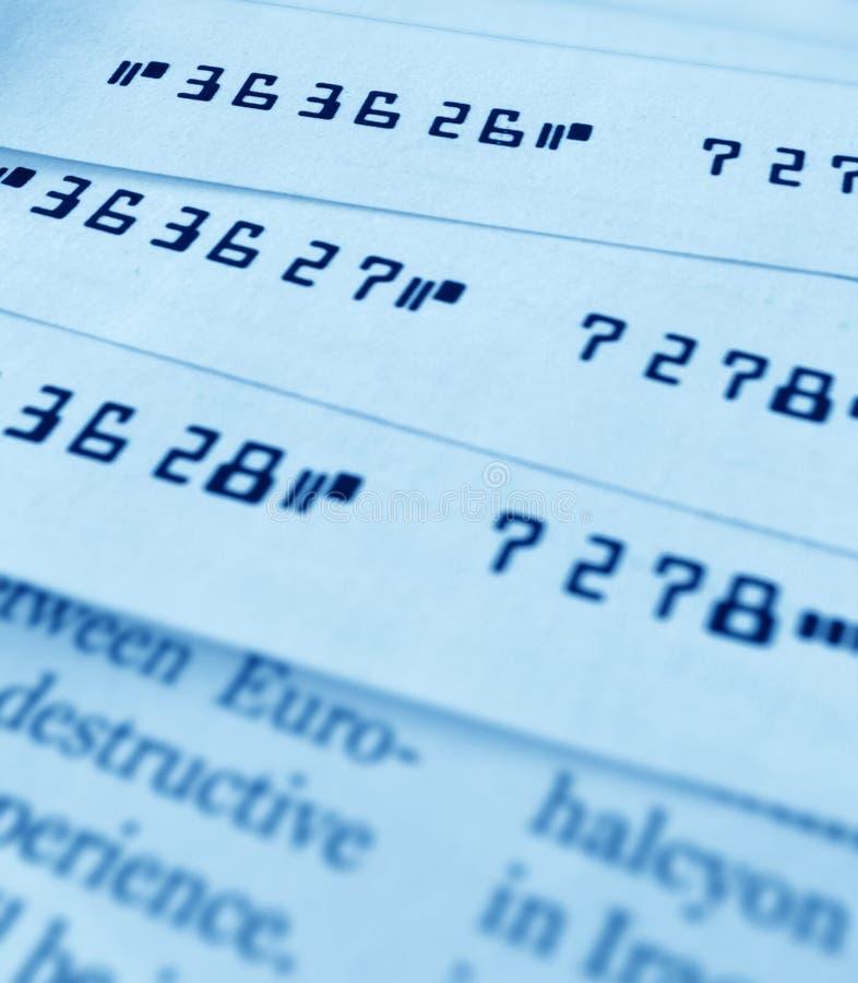 银行支票 图库摄影