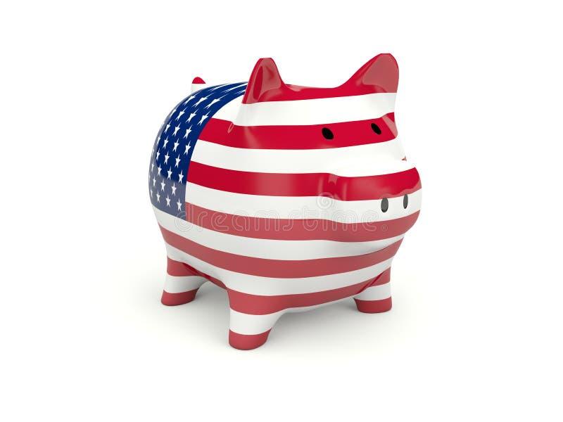 银行标志贪心美国 库存例证