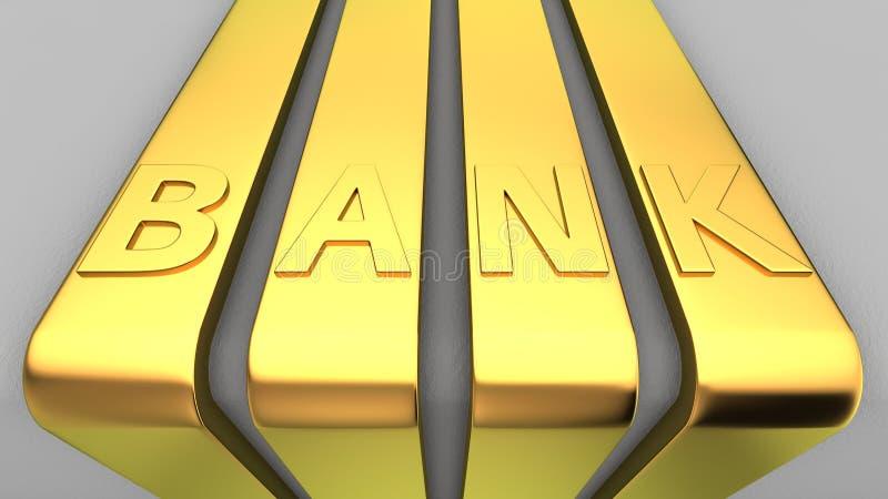 银行标志 库存例证