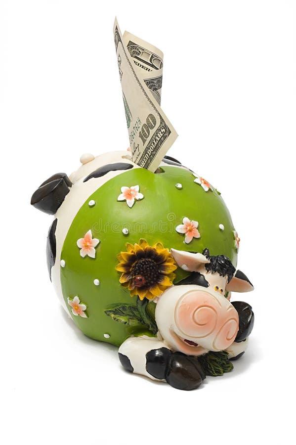 银行母牛 免版税库存照片
