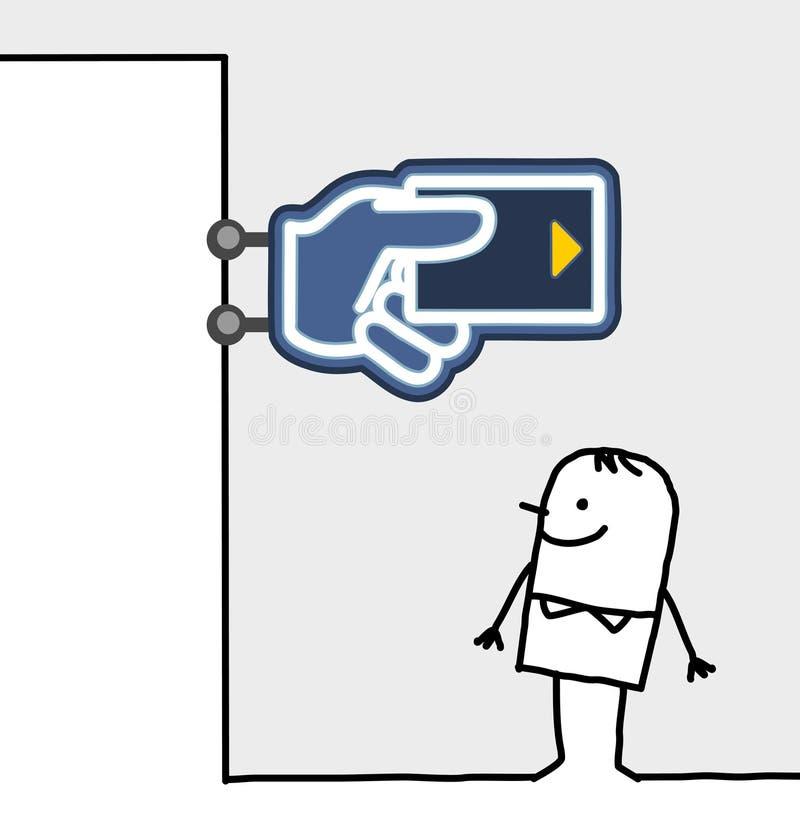 银行消费者界面符号 皇族释放例证